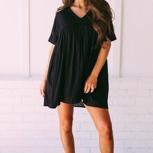 Dresses & Skirts - Babydoll Tunic Dress - Black